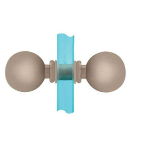 Shower Door Ball Style Back-to-Back Knobs Chrome