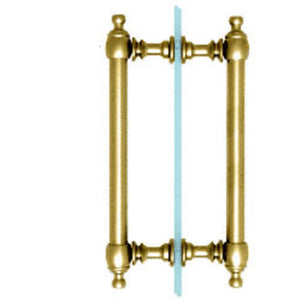 "Shower Door 8"" Colonial Style Back-to-Back Pull Handles"