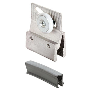 "Sliding Shower Door 3/4"" Oval Edge Roller and Bracket"