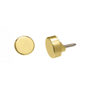 Round Mirror Clip Set - Polished Brass