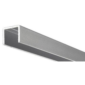 "Showcase Satin Anodized Aluminum 1/2"" U-Channel"