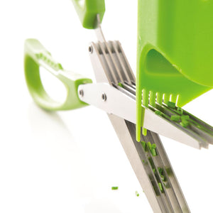 Multi Blade Herb Scissors - Green