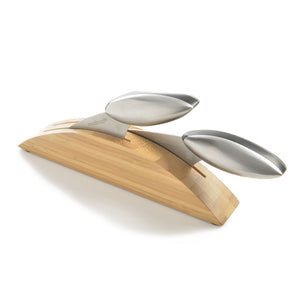 Set of 2 Axos Knives with Bamboo Stand