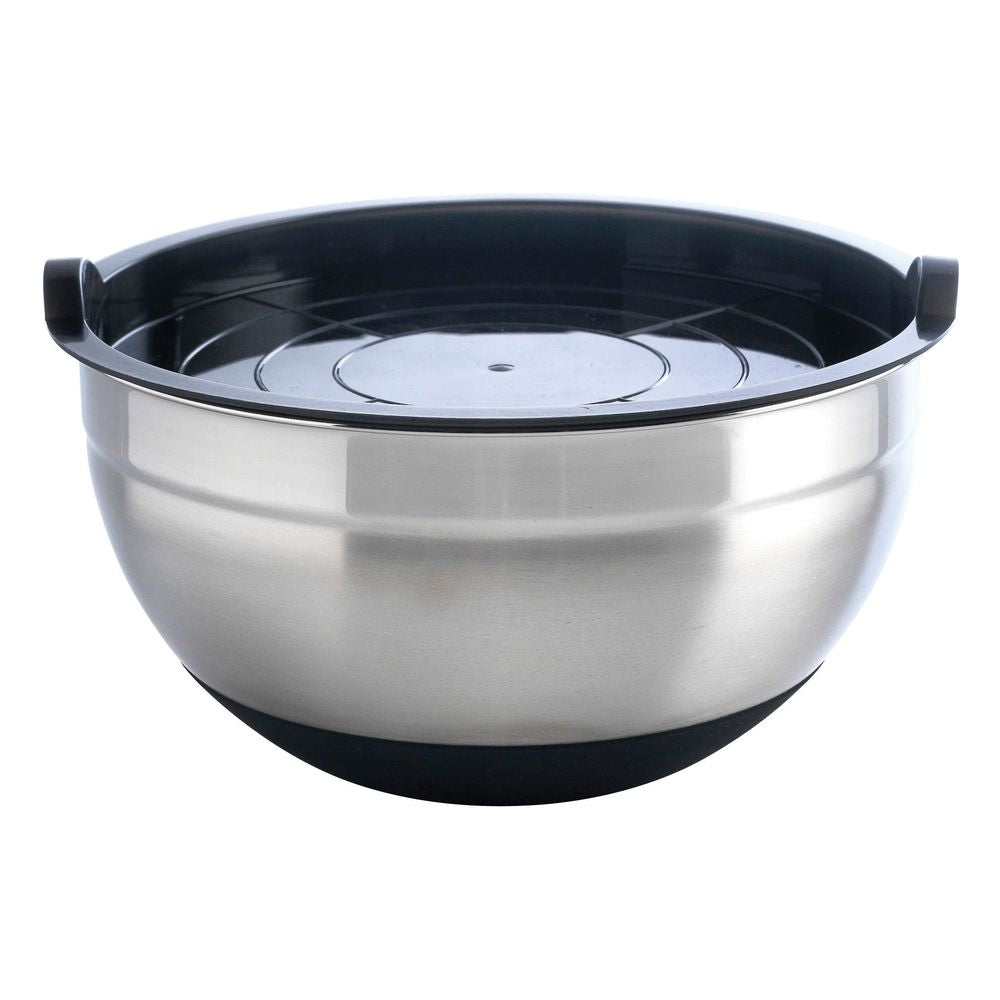Non Slip Stainless Steel Bowl - Charcoal
