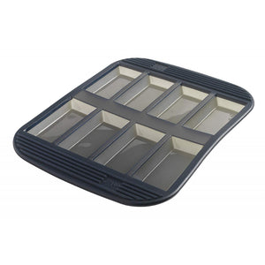 8 Silicone Financiers Baking Pan - Grey Translucent