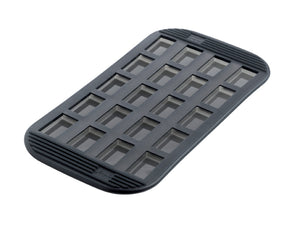 20 Silicone Mini-Financiers Baking Pan - Grey Translucent