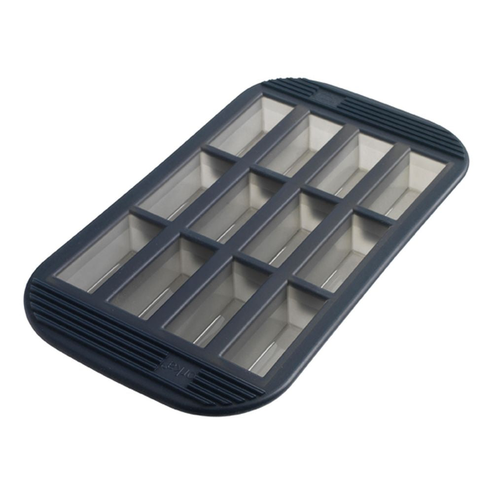 12 Silicone Mini-Loaf Baking Pan - Grey Translucent