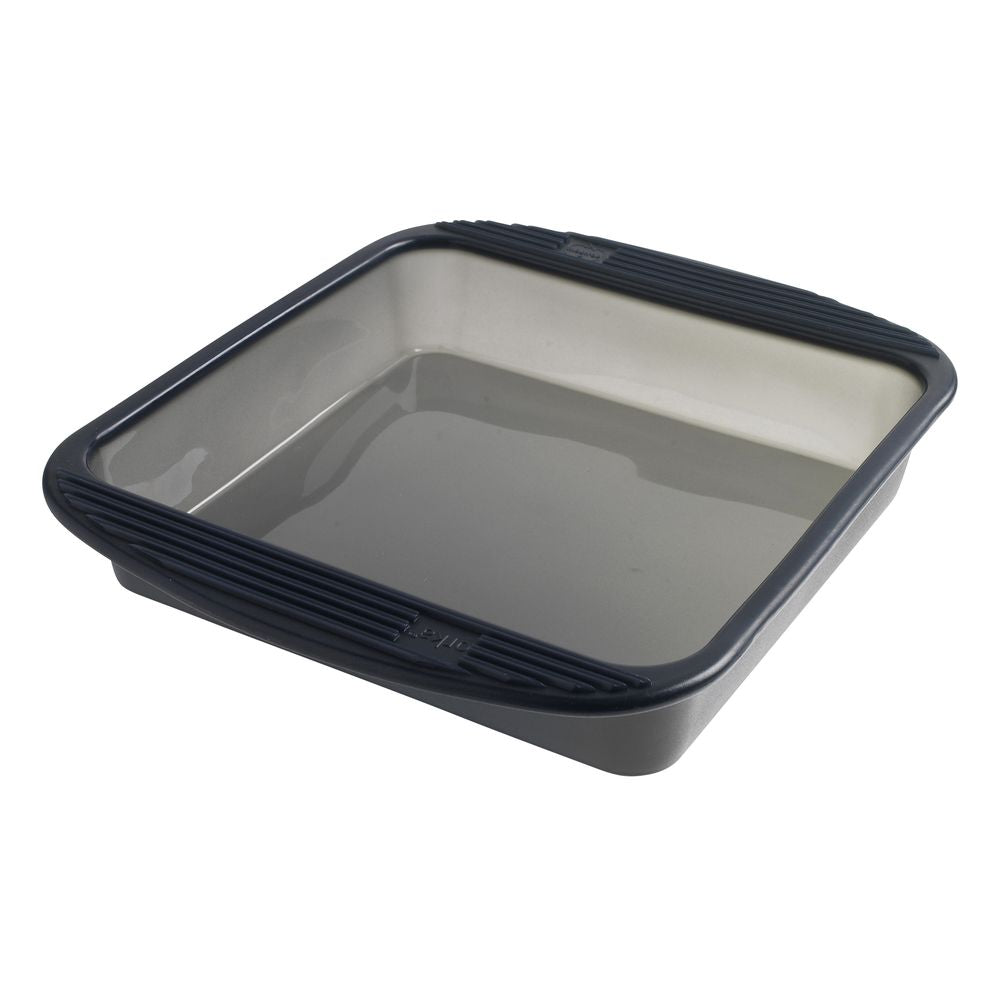 23cm x 23cm Silicone Square Baking Pan - Grey Translucent