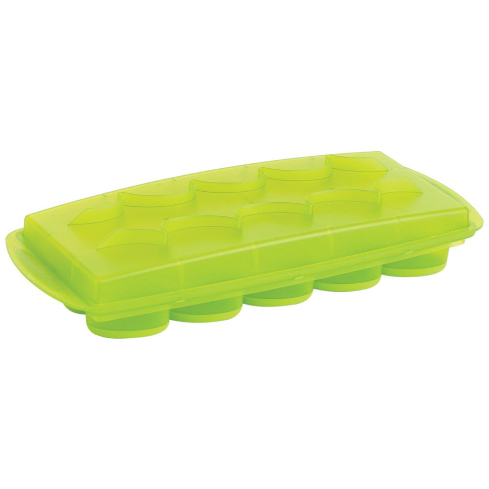 Flexible Oval Shaped Ice Cube Tray - Green