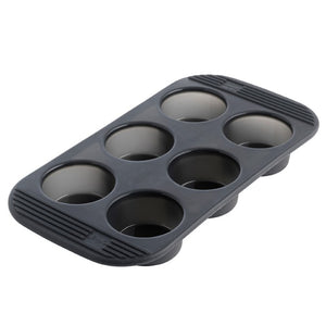 6 Silicone Muffin Pan - Grey Translucent