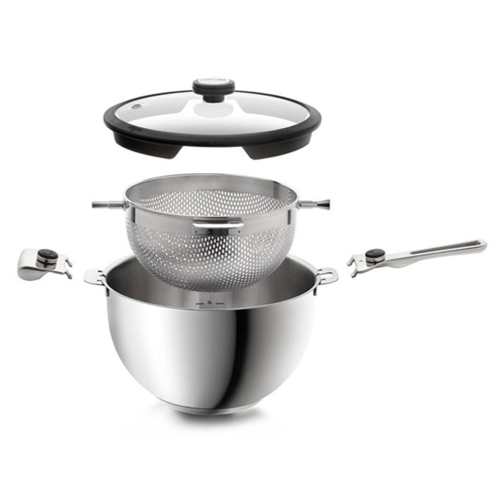 24cm Round Rotating Pan & Colander Combo