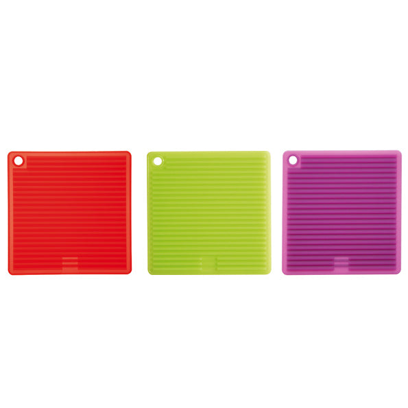 Silicone Square Pot Holder - Red