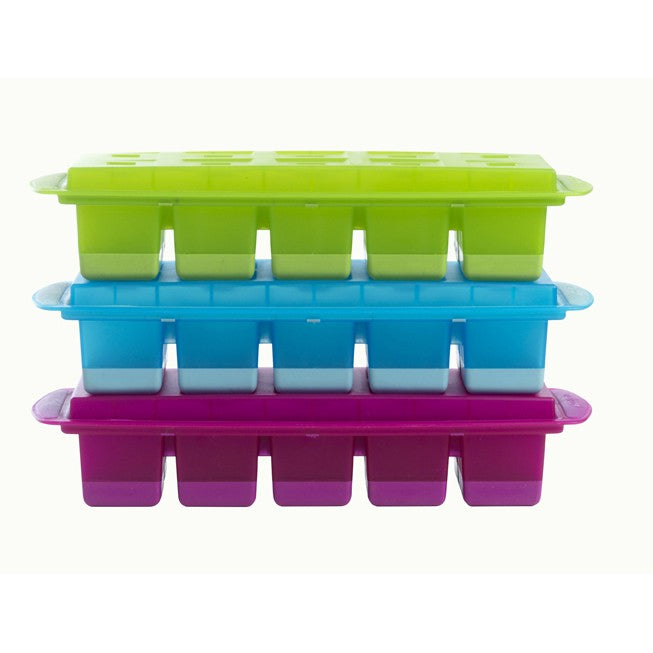 Flexible Large Cube - Ice Cube Tray - Blue