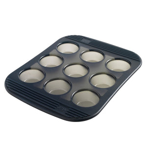 9 Silicone Mini-Muffins Pan - Grey Translucent