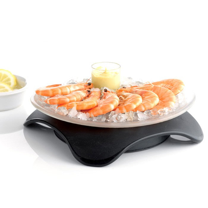 Hot & Cold Serving Plate Black