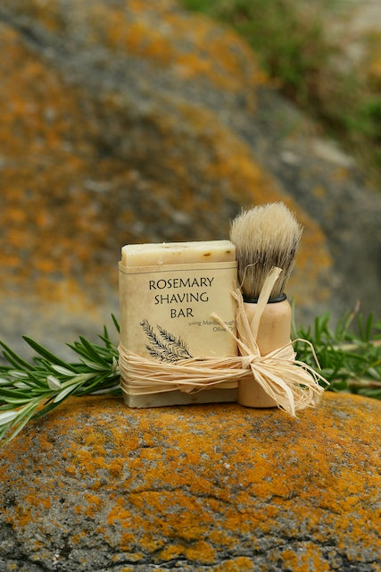 Rosemary Shaving Bar & Brush Set