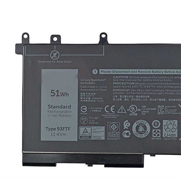 93FTF D4CMT Battery for Dell Latitude 5280 E5280 E5480 Latitude E5580