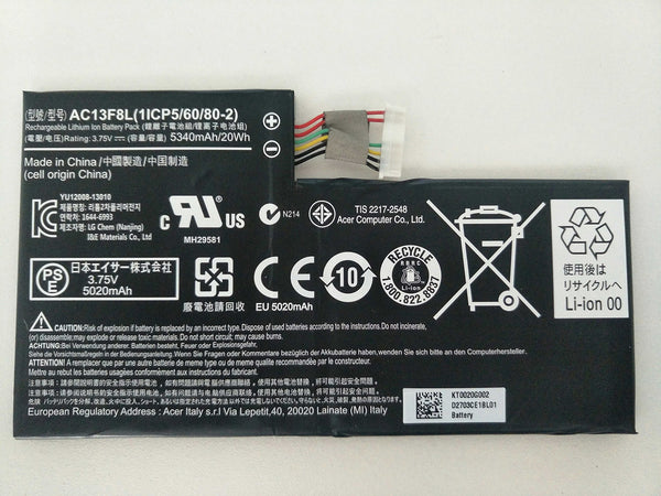 AC13F8L Battery For Acer Iconia Tab A1-A810 Tablet, Iconia W4-820 AC13F3L