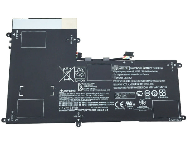 HP ElitePad 1000 G2 HSTNN-LB5O 728250-1C1 AO02XL 31Wh Battery