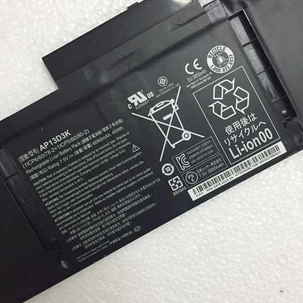 AP13D3K 45Wh Battery For Acer Aspire S3-392G Aspire S3 Series