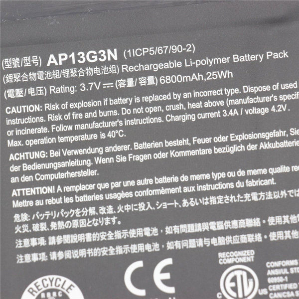 AP13G3N 25Wh  Battery For Acer Iconia W3-810 8' Series Tablet