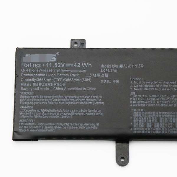 B31N1631 Replacement Battery For Asus VivoBook S14 S410UN-EB065T EJ086