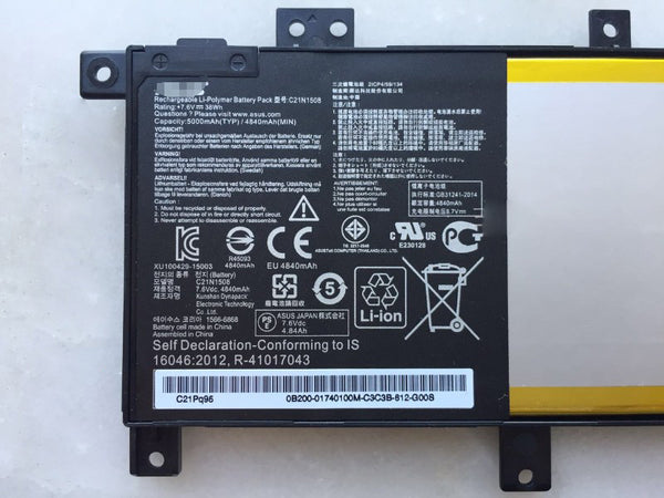Asus C21N1508 X456UA X456UB X456UF X456UJ laptop battery