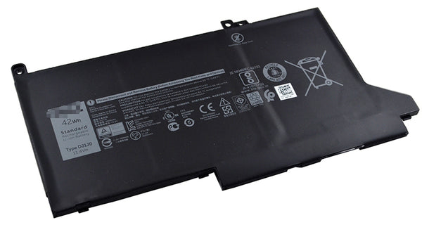 DJ1J0 PGFX4 42Wh Battery For DELL Latitude 12 7000 7480 7280