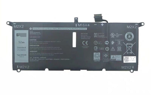 DXGH8 0H754V 52Wh Battery For Dell XPS 13 2018  XPS 13 9370 FHD i5