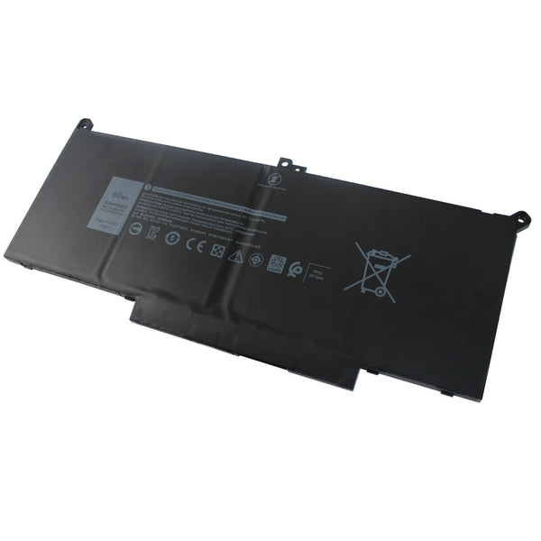 F3YGT 60Wh Battery for Dell Latitude 7280 7290 7380 7390 7480 E7480