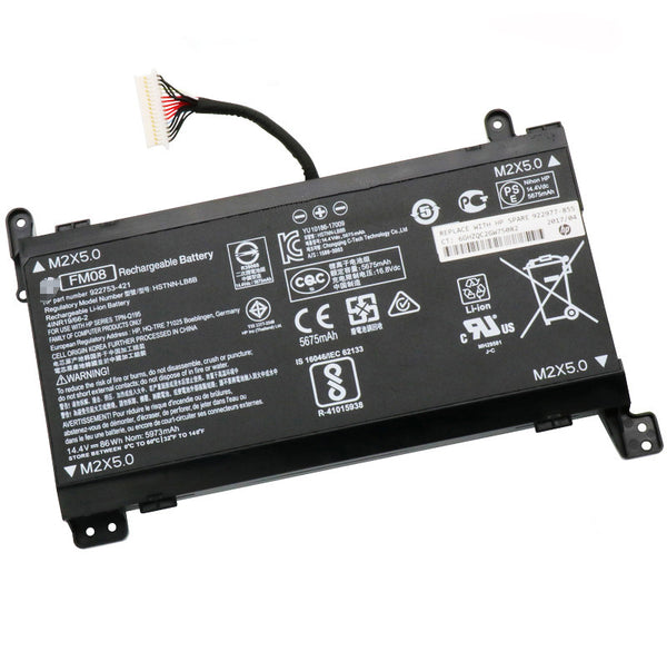 FM08 HSTNN-LB8B Battery for Hp OMEN 17-an013TX an014TX Notebook