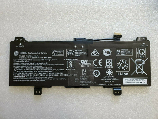 GM02XL 47.3Wh Battery for Hp Chromebook 14 G5 Chromebook X360 11 G1