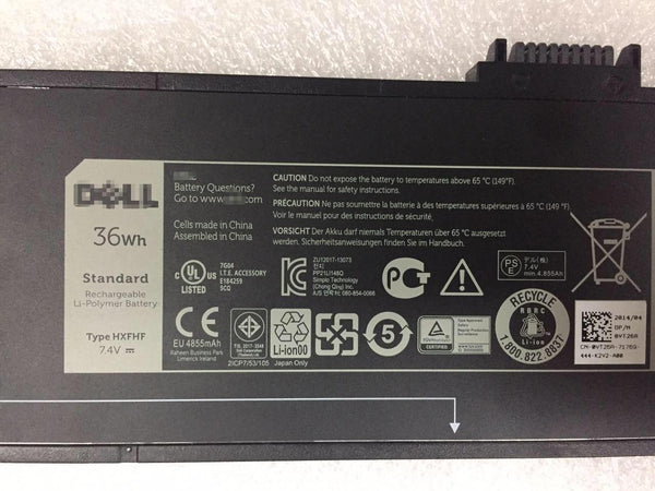 Dell Venue 11 Pro 7130 7139 7310 7140 HXFHF VT26R VJF0X Battery