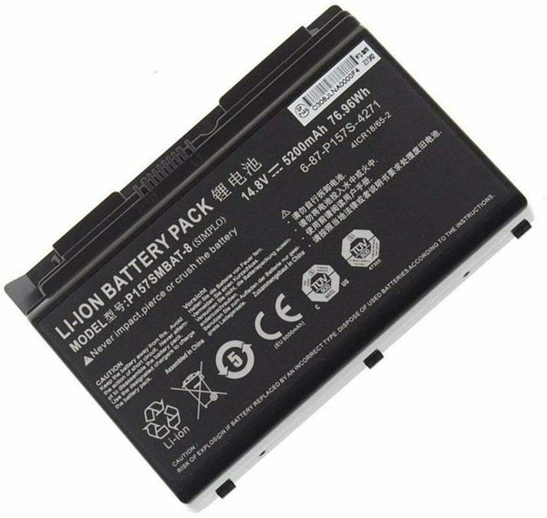 Clevo P157SMBAT-8 6-87-P157S-4271 P157S P157SM Hasee K780E Battery