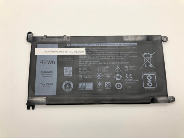 WDX0R 11.4V 42Wh Battery for Dell Inspiron 13 5368 Inspiron 15-5567 15-5568