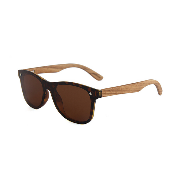 Noah Wood Frame Sunglasses
