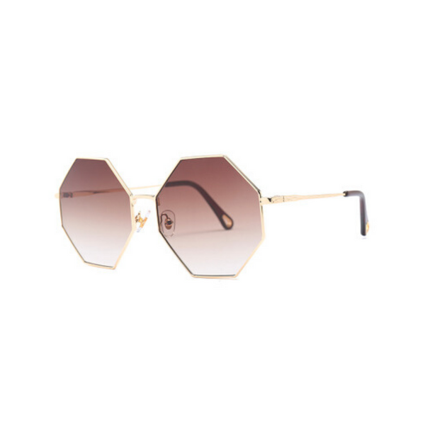 Michelle Oversized Octagon Sunglasses