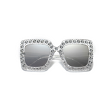 Prudence Square Diamond Mirror Sunglasses