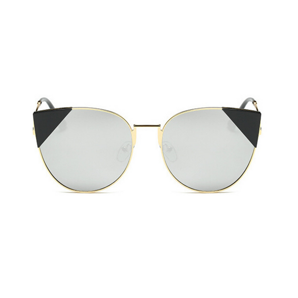 Stephanie Cat Eye Mirror Sunglasses