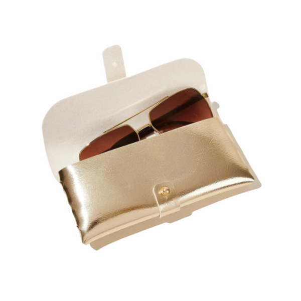Gold Sunglasses Case