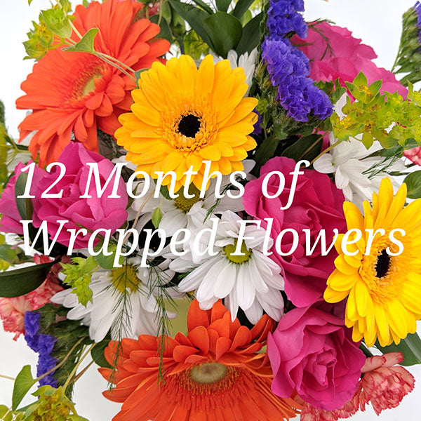 12 Months of Wrapped Flowers