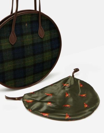 Joules Fulbrook Round Tweed Bag