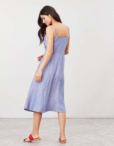 Joules Abby Solid Women's Button Through Strapp y Dress