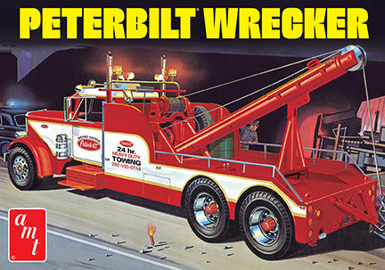 AMT 1133 1/25 Peterbilt 359 Wrecker Model Kit
