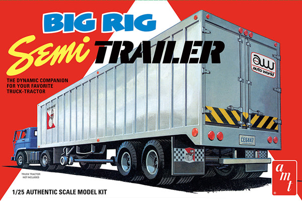 AMT Big Rig Semi Trailer 1:25 Scale Model Kit
