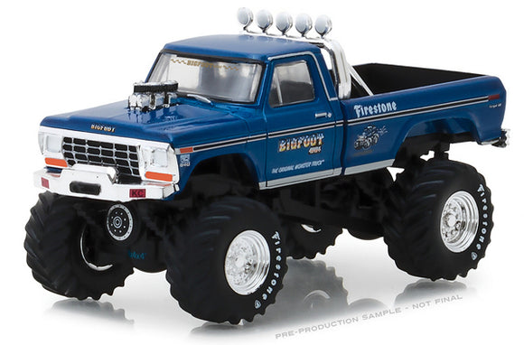 Greenlight (#29934) 1/64 Scale  Bigfoot #1 The Original Monster Truck - 1974 Ford F-250