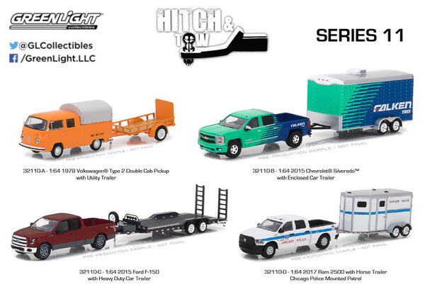 GREENLIGHT 1:64 HITCH & TOW SERIES 11 1:64 Scale (32110)