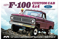 1/25 Moebius Models 1970 Ford F-100 Custom Cab 4X4 Pickup Truck (Kit) - 1230