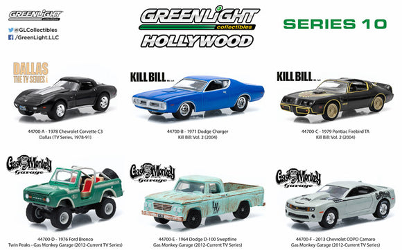 GREENLIGHT 1:64 HOLLYWOOD SERIES #10 6P ITEM #44700