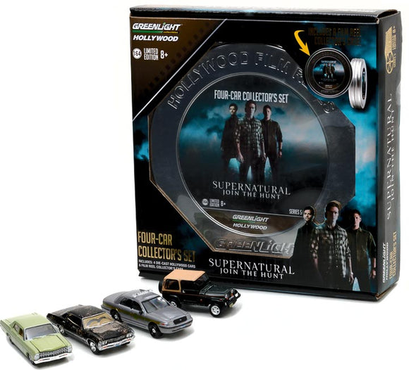 1:64 Hollywood Hitch and Tow Series 2  1:64 HOLLYWOOD FILM REELS SERIES 5 SUPERNATURAL (2005-CURRENT TV SERIES) SEASON 3-10 EDITION